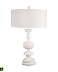 White Gloss Urn LED Table Lamp by