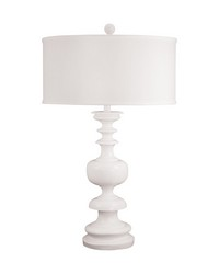 White Gloss Urn Table Lamp by