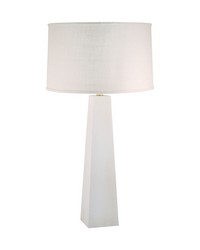 Grand Pyramid Table Lamp In White Wash by