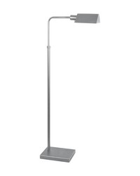 Pharmacy Floor Lamp In Satin Nickel by