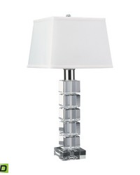 Beveled Crystal Square LED Table Lamp by