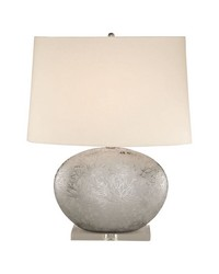 Platinum Oval Ceramic Table Lamp by