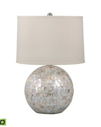 Mother of Pearl Orb LED Table Lamp by