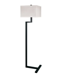 Right Angle Metal Floor Lamp In Bronze by