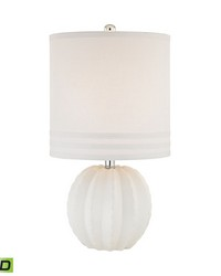 Seychelles 1 Light LED Table Lamp In White by