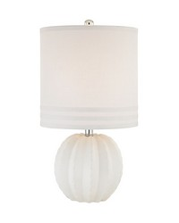 Seychelles 1 Light Table Lamp In White by