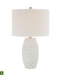 Farrah 1 Light LED Table Lamp In White by