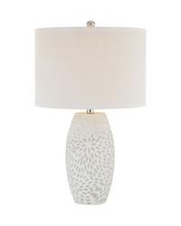 Farrah 1 Light Table Lamp In White by