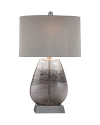 Haarlem 1 Light Table Lamp In Storm Grey And Pewter by