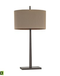 Wheatstone 1 Light LED Table Lamp In Bronze by