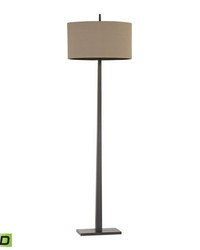 Wheatstone 1 Light LED Floor Lamp In Bronze by
