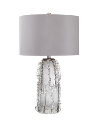 Palais 1 Light Table Lamp In Grey Smoke by