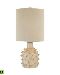 Kankada 1 Light LED Table Lamp In Cumberland Cream Crackle by