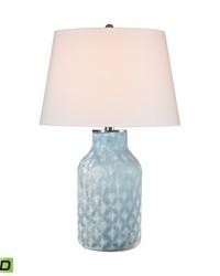 Sophie 1 Light LED Table Lamp In Santa Monica Blue by
