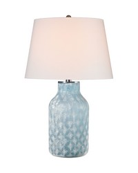 Sophie 1 Light Table Lamp In Santa Monica Blue by