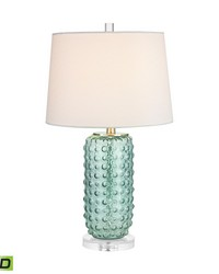 Caicos 1 Light LED Table Lamp In Green by