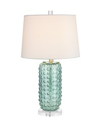 Caicos 1 Light Table Lamp In Green by