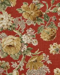 Red Large Print Floral Fabric  Escabosa Cherry