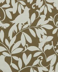 Brown Birds Fabric  Leaf Point Truffle
