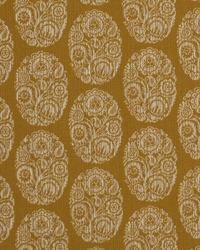 Gold Small Print Floral Fabric  Cameo Scroll Goldenrod