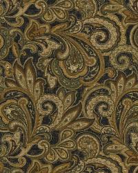 Black Classic Paisley Fabric  Verity Ann Ebony