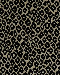 Robert Allen Leopard Flock Buff Fabric