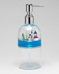 Floating Snowman Lotion Pump Blue by