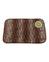 Cheetah Faux Fur Bath Mat by