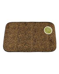 Leopard Faux Fur Bath Mat by