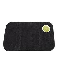 Sable Black Faux Fur Bath Mat by