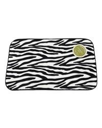 Zebra Faux Fur Bath Mat by