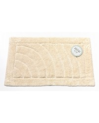Medium-Sized Cotton Bath Mat in Ivory by