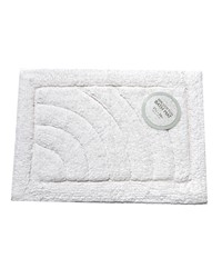 Medium-Sized Cotton Bath Mat in White by