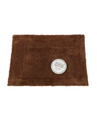 Large-Sized Reversible Cotton Bath Mat in Brown by