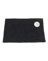 Large-Sized Reversible Cotton Bath Mat in Black by