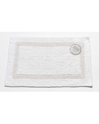 Large-Sized Reversible Cotton Bath Mat in White by