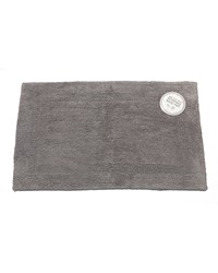 Large-Sized Reversible Cotton Bath Mat in Pewter by