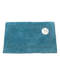 Large-Sized Reversible Cotton Bath Mat in Royal Blue by