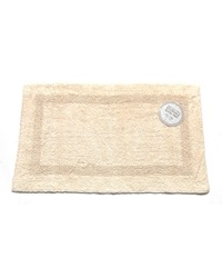 Medium-Sized Reversible Cotton Bath Mat in Ivory  by