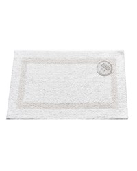 Medium-Sized Reversible Cotton Bath Mat in White by