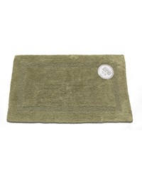 Medium-Sized Reversible Cotton Bath Mat in Sage by