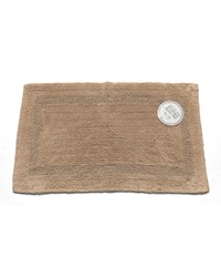 Medium-Sized Reversible Cotton Bath Mat in Linen by