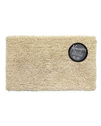 Shaggy Cotton Chenille Bath Room Rug Size  21x34 in Ivory by