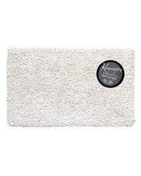 Shaggy Cotton Chenille Bath Room Rug Size  21x34 in White by