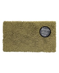 Shaggy Cotton Chenille Bath Room Rug Size  21x34 in Sage by