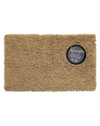 Shaggy Cotton Chenille Bath Room Rug Size  21x34 in Linen by