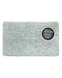 Shaggy Cotton Chenille Bath Room Rug Size  21x34 in Spa Blue by