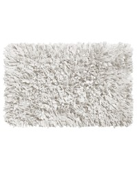 Paper Shag Cotton   Poly Blend Bath Mat White by