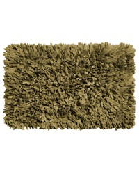 Paper Shag Cotton   Poly Blend Bath Mat Sage by