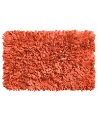 Paper Shag Cotton   Poly Blend Bath Mat Burnt Coral by